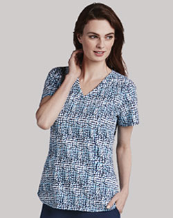 care uniforms, Barco print top, scrub pants for carers